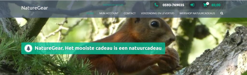 webshop www.naturegear.nl